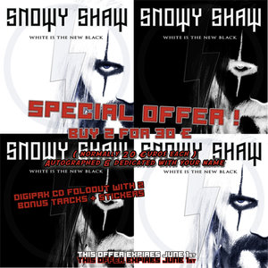 EXTRA SPECIAL OFFER: 2 for 30 €. SNOWY SHAW: WHITE IS THE NEW BLACK - DIGI CD